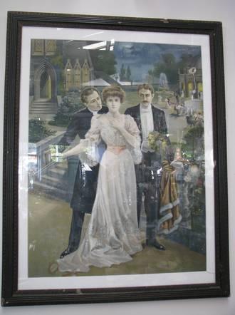 Victorian Print Yvonne Sanders Antiques Ltd Auckland