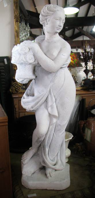 Concrete Statue Of Young Lady $650.00