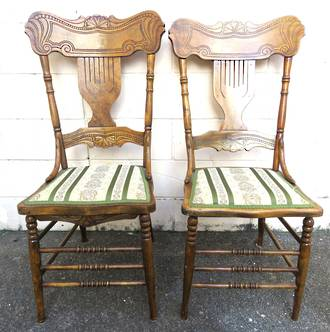 Unique Dining Chairs, Antique Canadian Spindle back dining Chairs