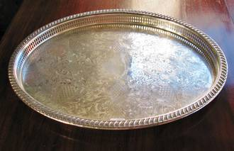 Large Antqiue Oval Tray