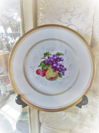 Antique French Hand Painted Haviland Limoges Plates