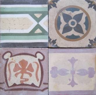 Antique Tiles - MEDLEY ONLY $7 each