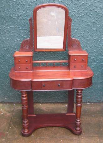 Antique Mahogany Dressing Table $1350