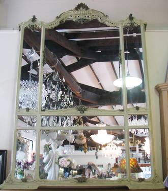 Massive French Mirror with Console Table SOLD