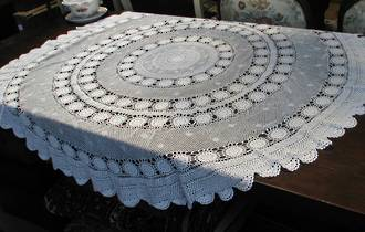 Round Crocheted Tablecloth