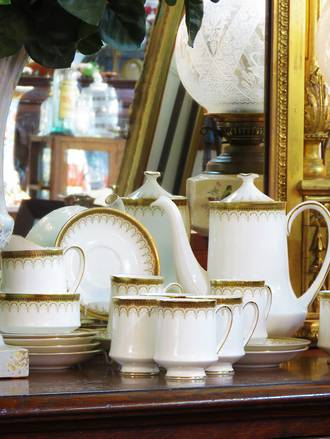 Paragon Athena  Porcelain Coffee set $450.00