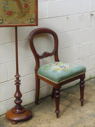 Victorian Balloon Back with Hand-Made Tapestry Seat