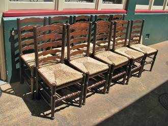 Ladder Back Rush Chairs set of Six only $2100