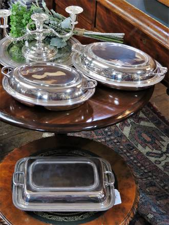 EPNS Serving Dishes, Vegetable Tureens, circa 1910 - 1950