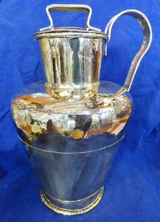 Huge Hand Crafted Brass Urn, Victorian Seams