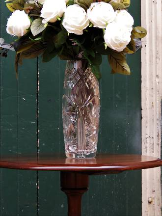 Large Very Heavy Brilliant Cut Crystal Vase SOLD