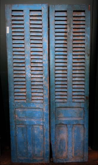 Antique French Shutter Doors 1350 00 Pr Aqua Yvonne