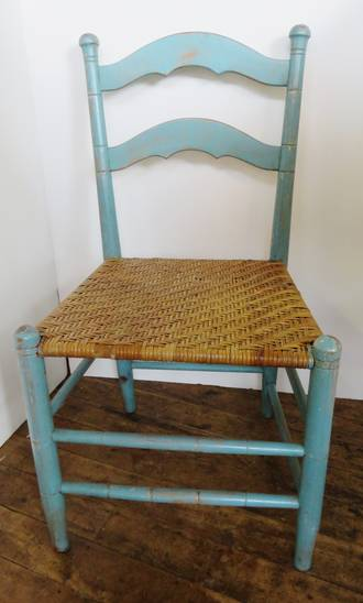 French Antique Cane Seat Painted Chair