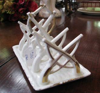 Antique German Porcelain Toast Rack