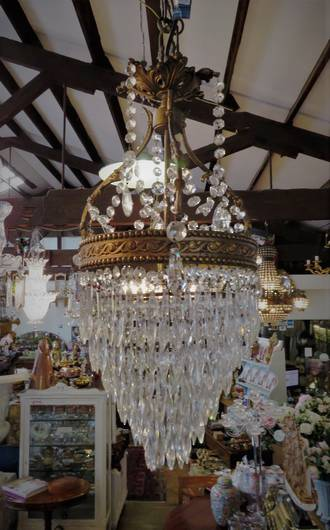 Vintage 1920's French Crystal Chandelier SOLD