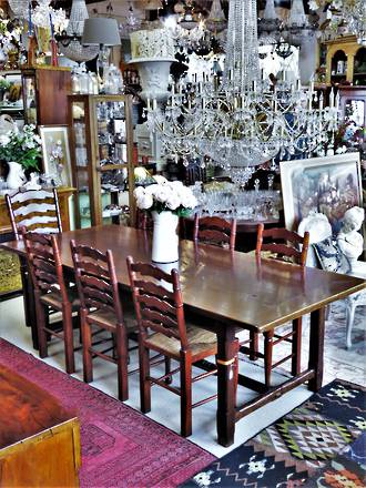 Vintage French Dining Table - Made from Chestnut Timber $4250.00