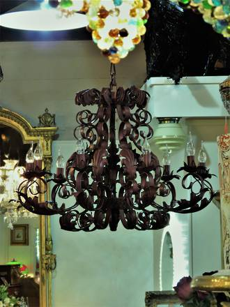 Wrought Iron Chandelier - med size