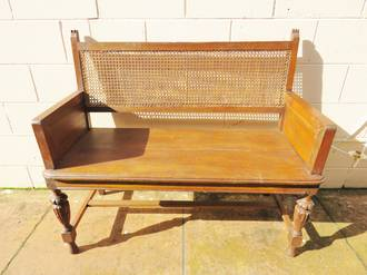 Oak Cane back 2 seater or Love Seat