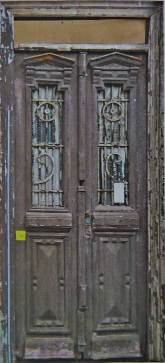 Antique French Doors with Iron grilles $2500 pair