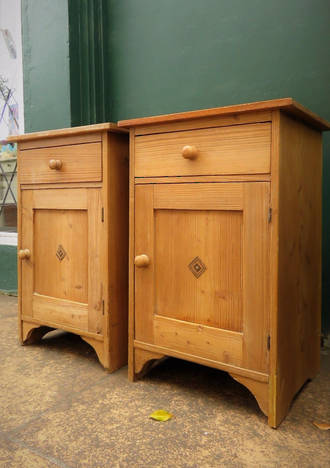Antique Baltic pine Bedside Tables $1150 pair