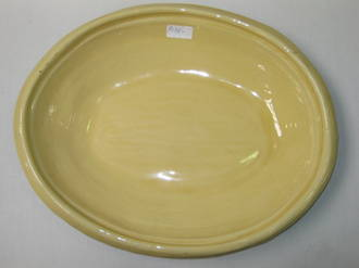 Oval Platter Deep - Yellow
