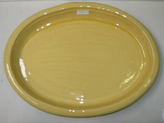 Flat Oval Platter - Yellow