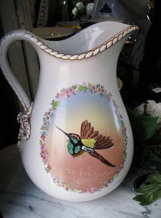 Large Humming Bird Pitcher or Jug