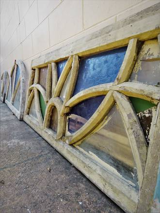 Architectural Salvage - Antique Stained Glass Window or Panel  - $950