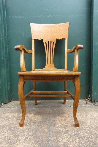 Arts & Crafts Oak Arm Chair $395