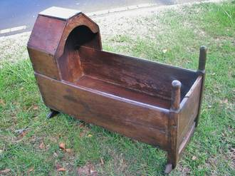18th Oak Rocking Cradle circa 1780 $1250