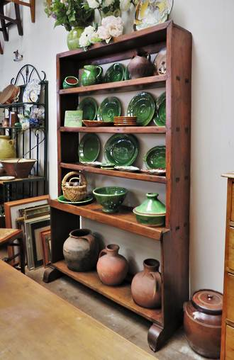 Early 18th C Spanish Kitchen Dresser With Original Terracotta Urns Sold