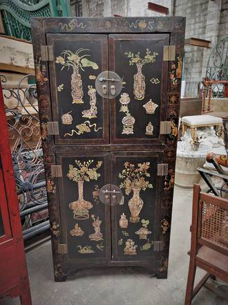 Antique Chinese Cabinet Wardrobe $2950.00