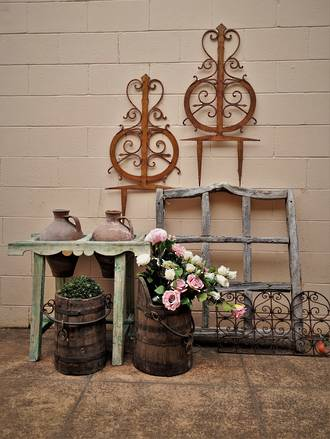 Rustic Weathered Wooden Framework for Garden Feature or Trellis $225