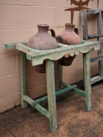 Early Spanish Water Carrier with Original Terracotta Water Pitchers $1550