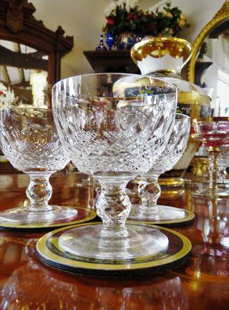 6 x Waterford Hand Cut 'Colleen' Chilled Wine or Water Goblets