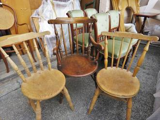 Variety of Antique Country Chairs