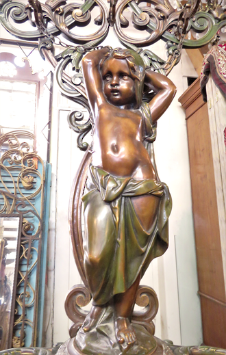 Huge Bronze & Iron Coat Stand 'Cosette'  by Coalbrookdale  circa 1854