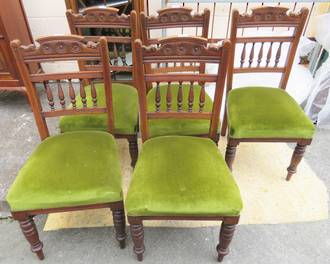 Edwardian Dining Chairs x 5