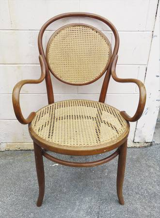 Bentwood Cane Carver Chair