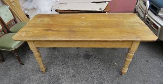 Antique Rustic English Pine Dining Table $1950