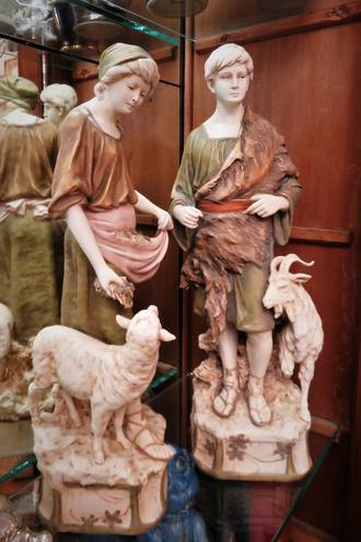 Royal Dux Shepherd and Shepherdess Figures