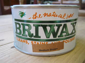 Briwax 400gms - Medium Brown