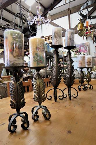 Bespoke Hand Forged Wrought Iron Candelabra's