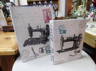 Vintage Style Book Box ~ Sewing Machine ~ Large size