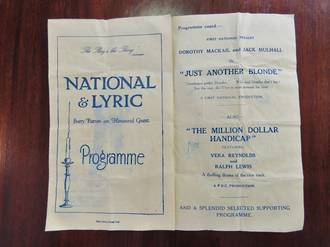 """Just another Blond""  ""The Million Dollar Handicap"" Theatre Programme 1927"