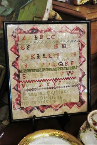 Antique Embroidery Sampler - 1864  $295