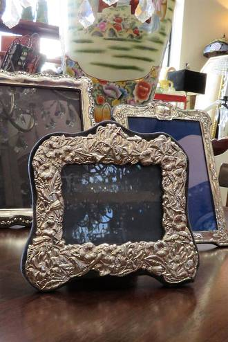 Antique Decorative Sterling Silver Frame