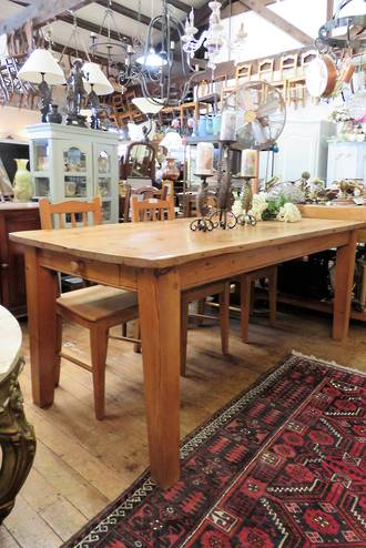 English Baltic Pine Dining Table $1850 reproduction