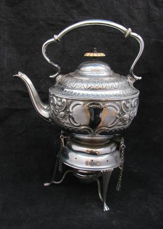 Antique engraved Spirit Kettle