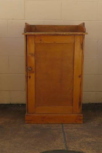 Antique Baltic Pine Cabinet, Large Bedside or TV Stand $650